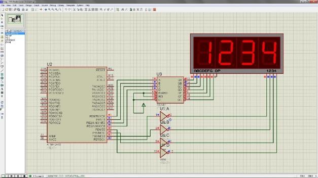 Program 7 segment dengan ATmega16